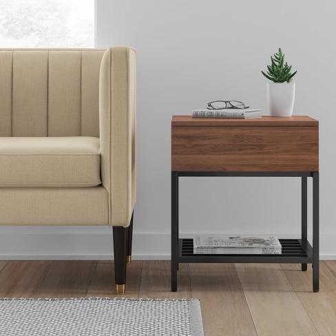 Best Loring Side Table Walnut Project 62™ Walnut Side 400 x 300