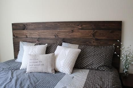 diy how to make your own wood headboard in 2019 diy. Black Bedroom Furniture Sets. Home Design Ideas