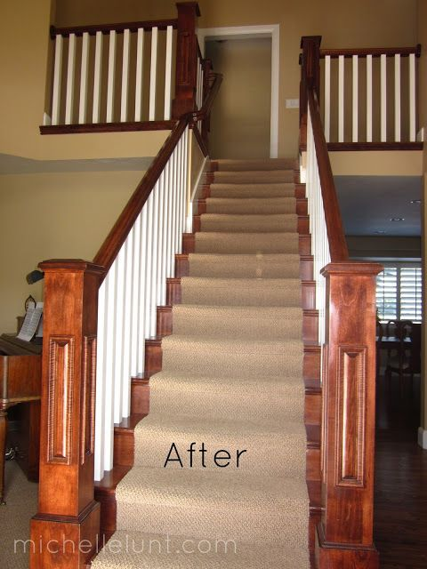 An updated staircase helps your #home make a good first impression.