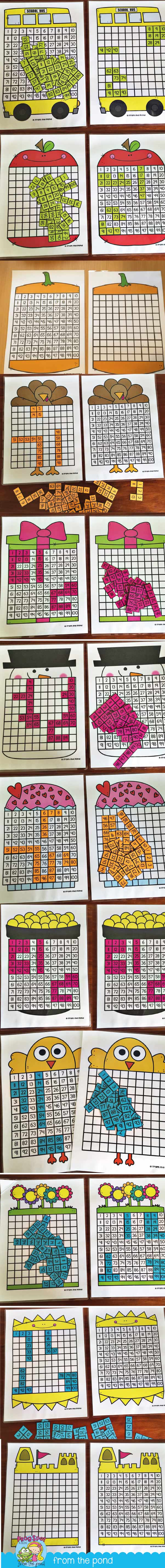 worksheet Hundreds Chart Puzzles 100 chart activities for the year math and school year
