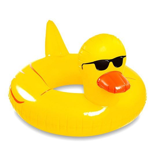 Bigmouth Giant Rubber Duckie Pool Float Inflatables