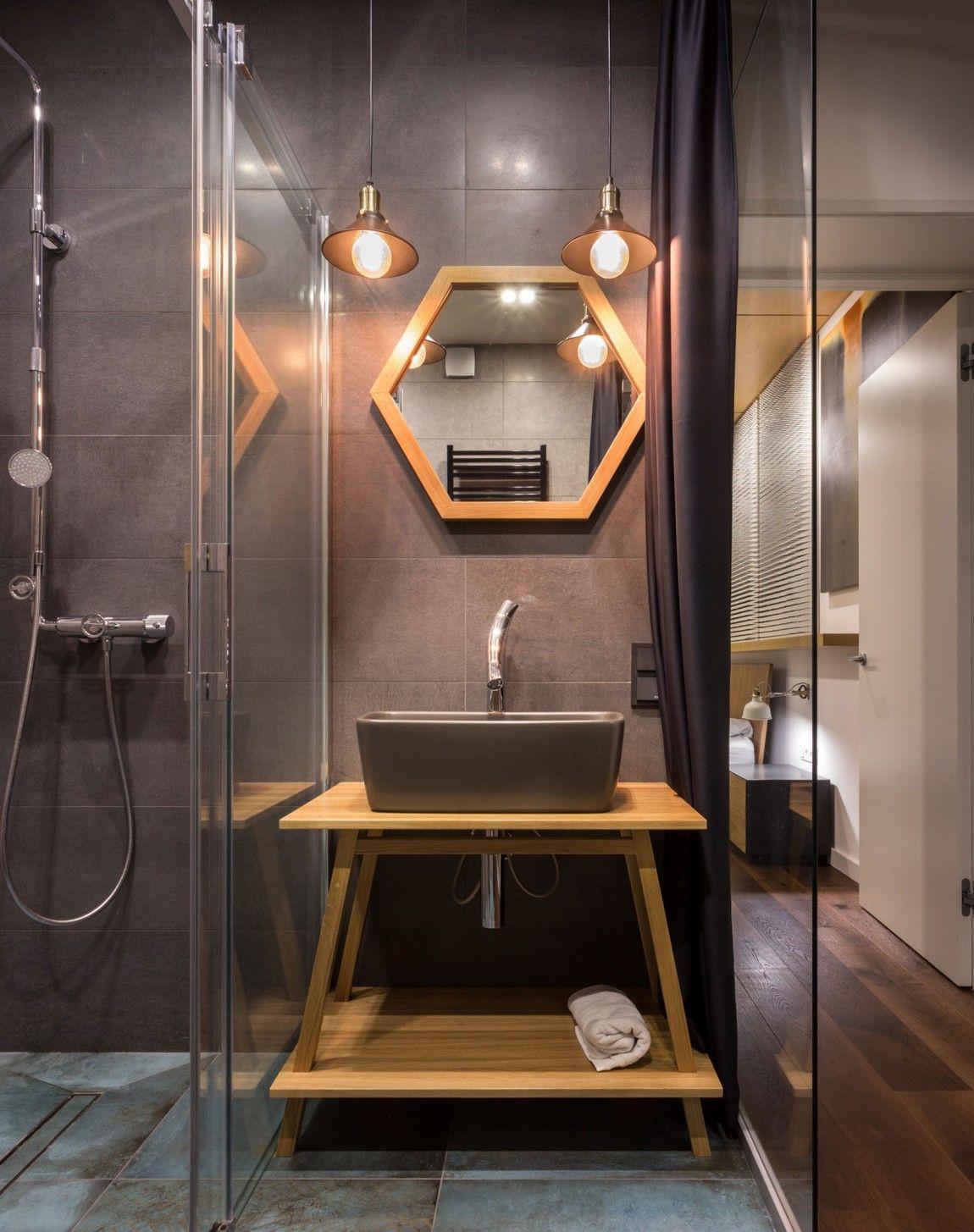 Svoya Studio Designs A Chic Apartment In Kiev Homedsgn Industrial Bathroom Decor Industrial Bathroom Design Bathroom Design
