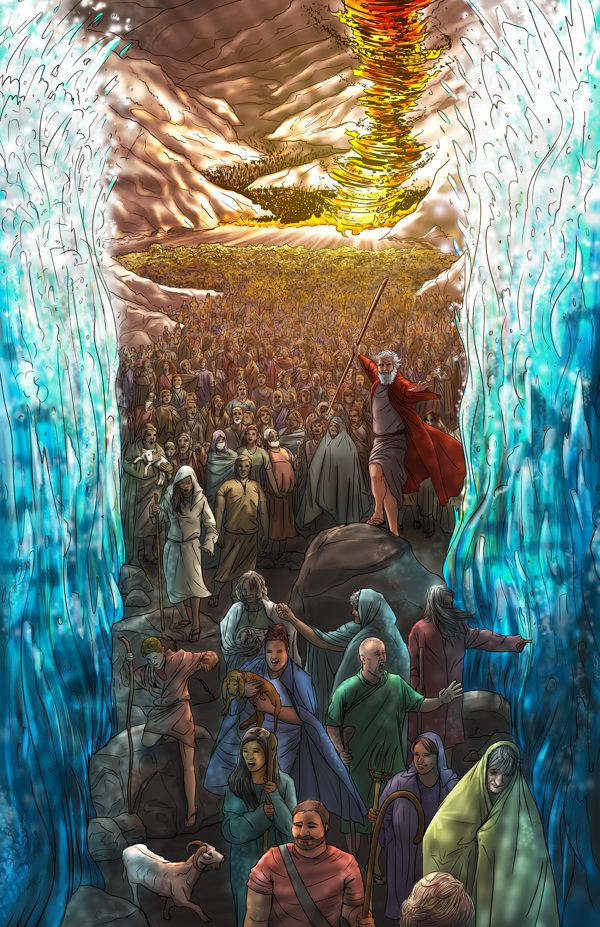 moses at red sea i would be that first person on the right not