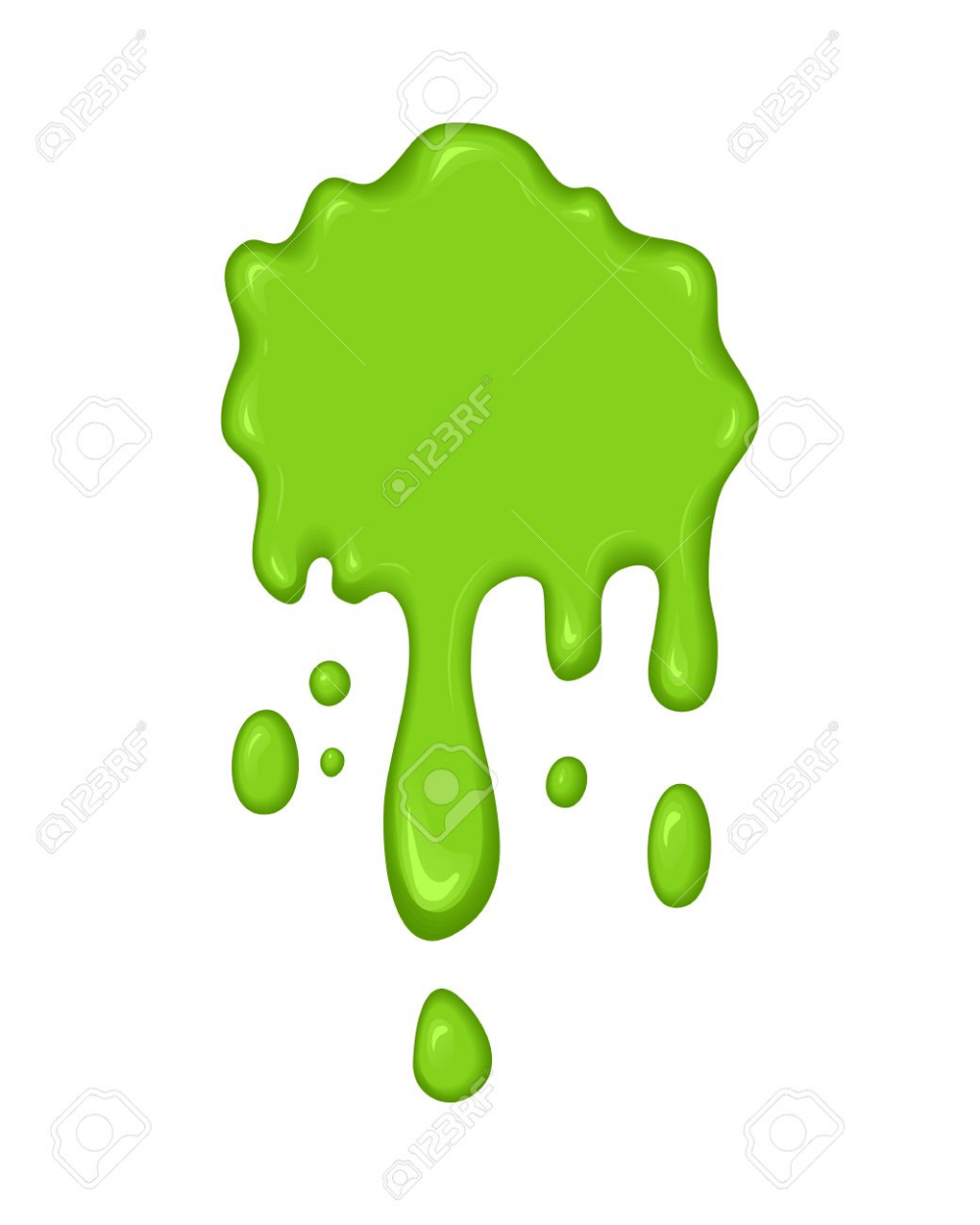 Vector Illustration Slime Drips And Flowing Abstract Green Vector Illustration Abstract Illustration