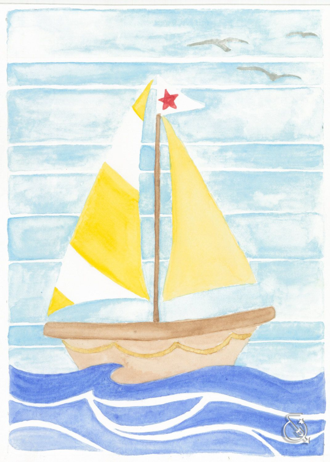 Clearance 20 Off Watercolor Sailboat Print | Watercolors | Pinterest ...