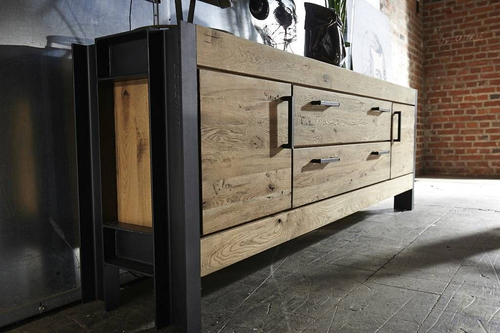 sideboard giant wildeiche stahl online bestellen pickupm industrial m bel in 2019. Black Bedroom Furniture Sets. Home Design Ideas