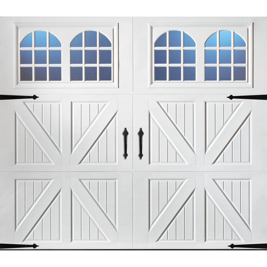 Pella Carriage House 96 In X 84 In Insulated White Single Garage Door With Windows 123523 In 2020 White Garage Doors Garage Doors Single Garage Door