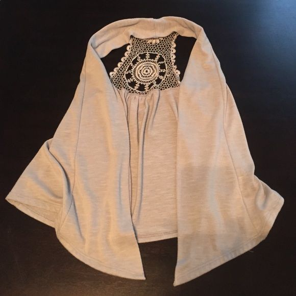 Grey Sleeveless Summer Vest Easy to wear over tank or cami. Adds a little something to an otherwise simple outfit. Other