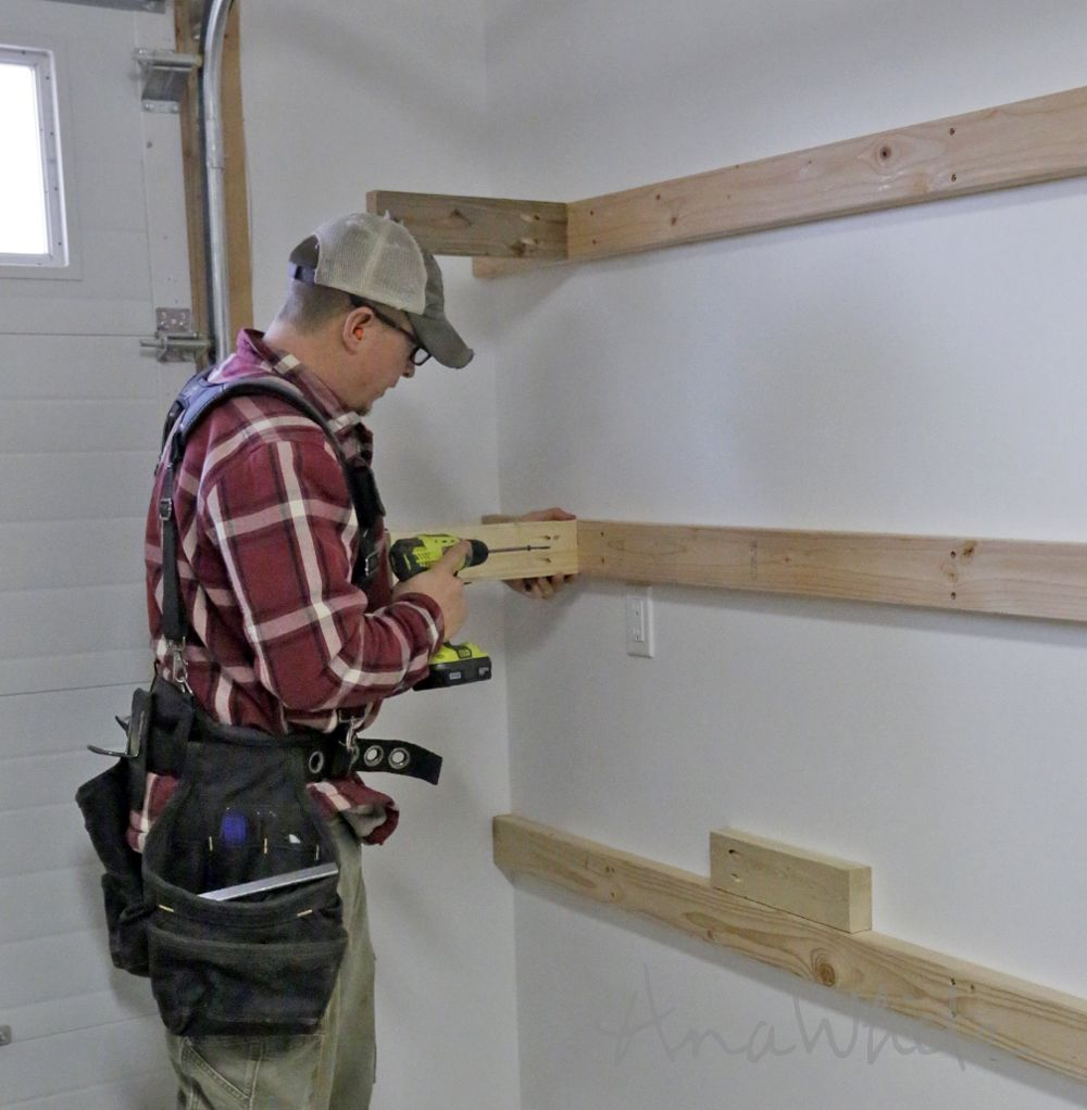 BEST DIY Garage Shelves (Attached To Walls)