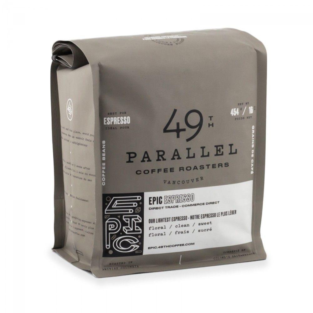 49th Parallel Epic Espresso Whole Bean 16oz An