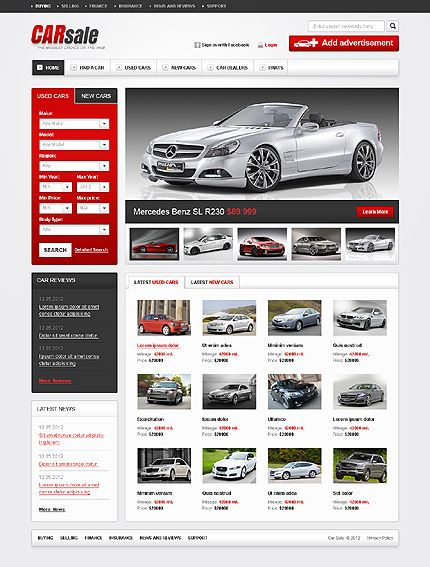 Pretty Awesome Car Dealership Website Package Webdesign Html Templates Flyer Template Web