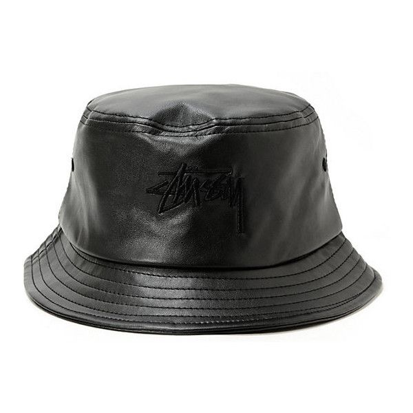 Stussy Stock Leather Bucket Hat ( 36) ❤ liked on Polyvore featuring  accessories d80f22e13e