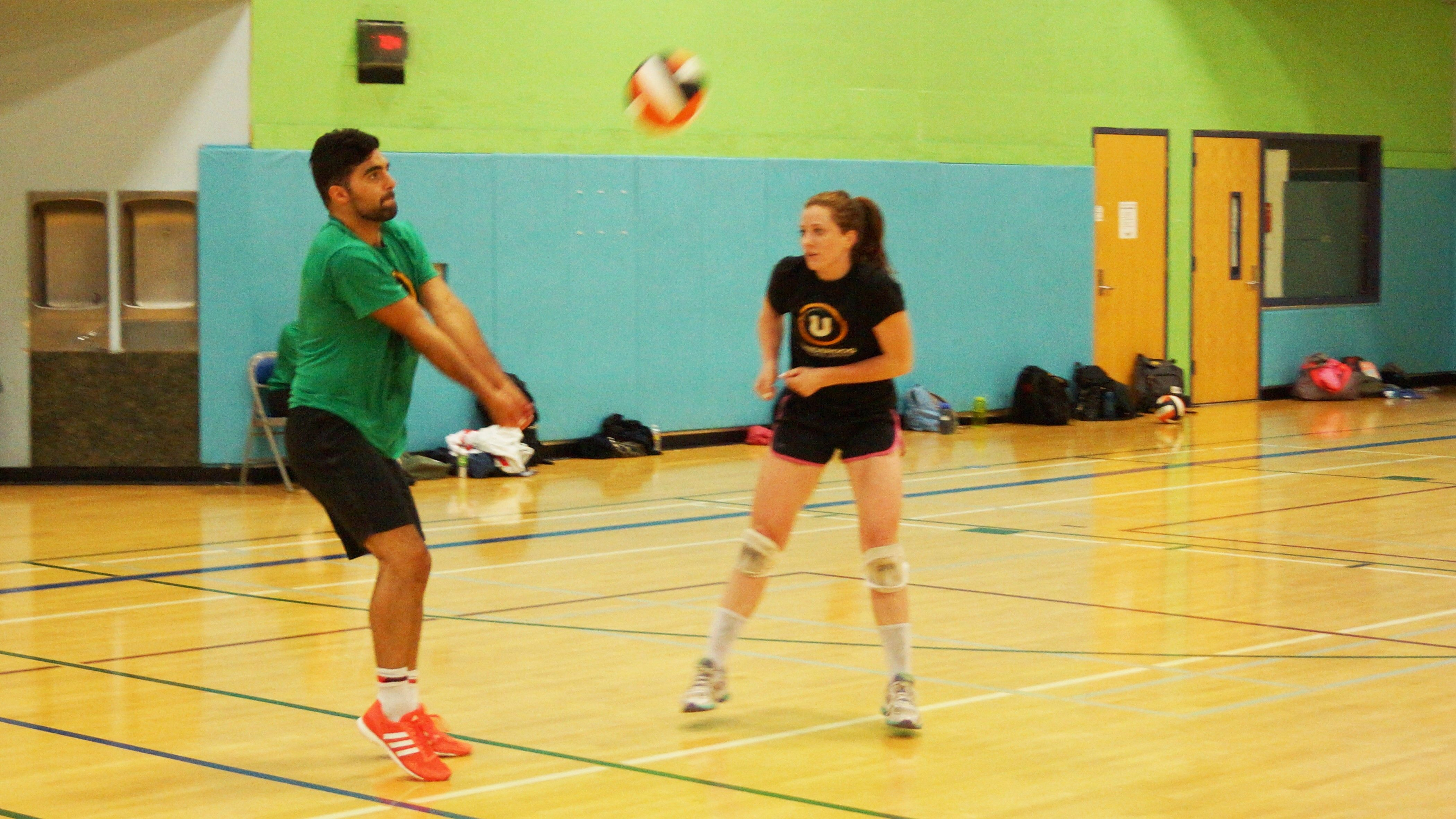 Out on the court with underdog indoor volleyball beach
