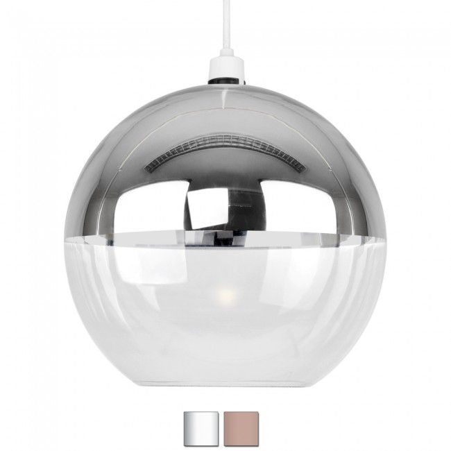 Modern Chrome Glass Ball Ceiling Pendant Light Shade