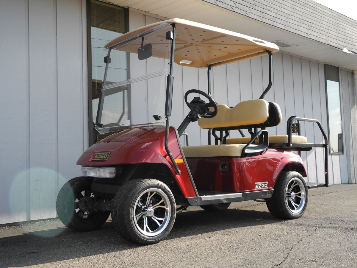 This 2007 EZGO PDS electric golf car is streetready
