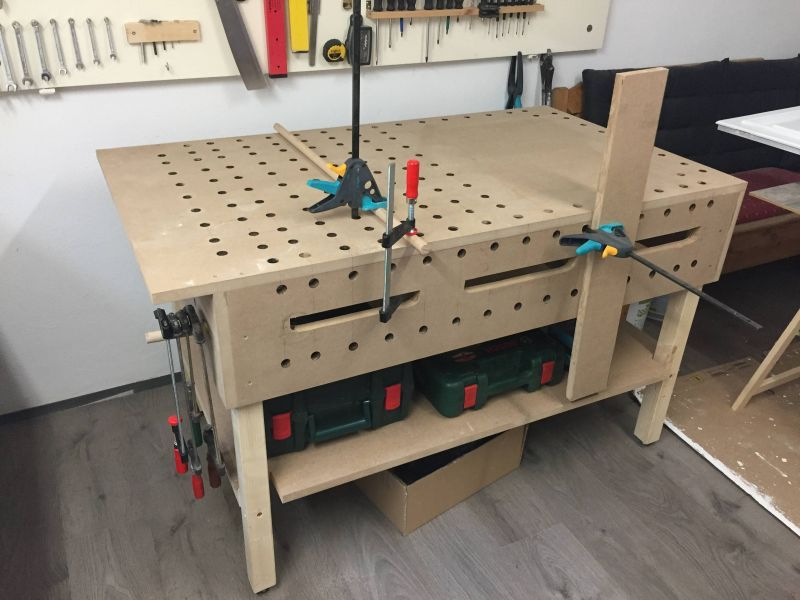 Werktisch Von Einem Anfanger Bauanleitung Zum Selberbauen 1 2 Do Com Deine Heimwerker Community Werkbank Selber Bauen Holzbank Werktisch