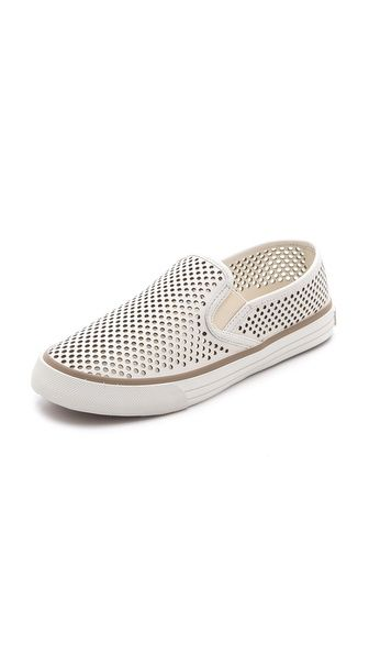 Tory Burch Miles Perforated Sneakers - PERFECT for walking the docks or heading to the beach!