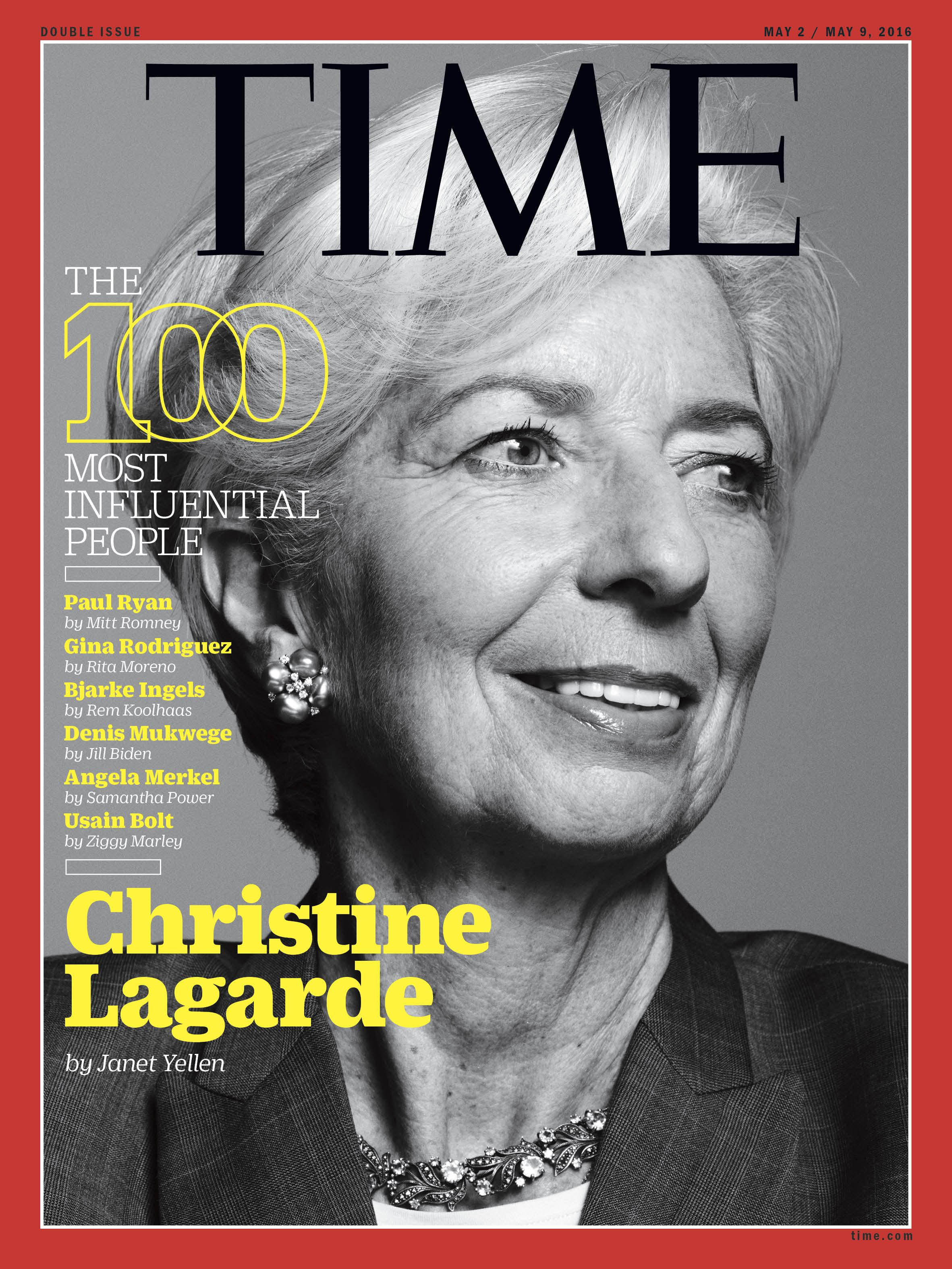 "Christine Lagarde ""is enormously impressive—a charismatic leader, respected worldwide."" ‪#‎TIME100‬"
