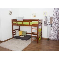 Photo of Hochbett für Erwachsene Easy Premium Line K14/n, Buche Vollholz massiv Kirschfarben – Maße: 90 x 200