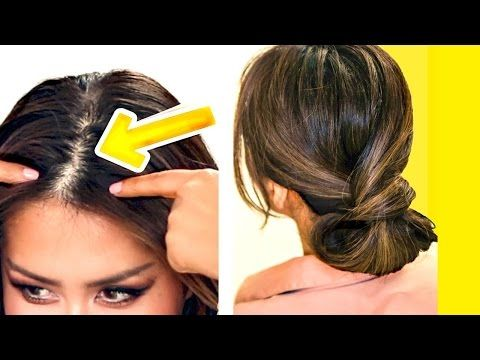 2 Minute Hairstyles ☆ 2Minute Elegant Bun For Thin Hair  Easy Updo Hairstyles For