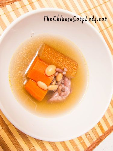 Old Cucumber and Carrots in Pork Broth - an excellent soup