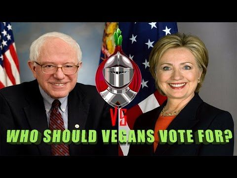 Duel: Who should Vegans vote for? Hillary Clinton or Bernie Sanders? (1st Dem. debate coverage) - YouTube