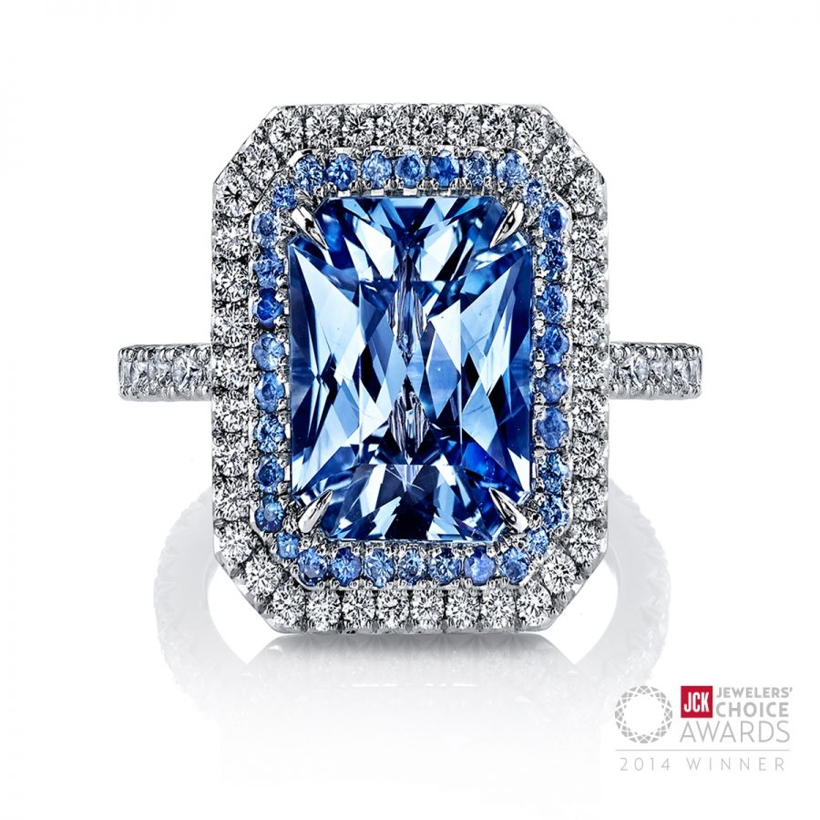 0a665afe3ee8f Omi Prive: Award Winning Sapphire and Diamond Ring | Bling (My Style ...