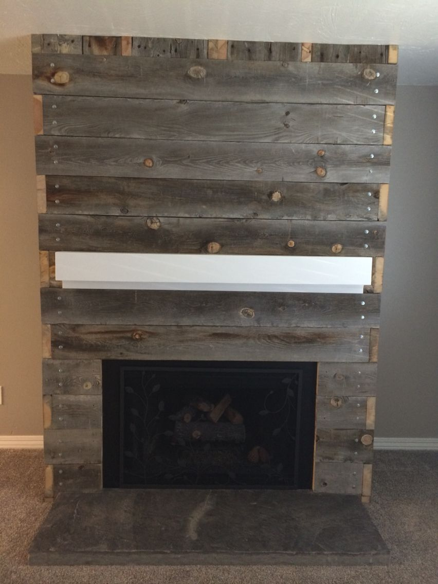 fireplace wood surrounds fireplaces mill and reclaimed antique real pallet from a diy barnwood