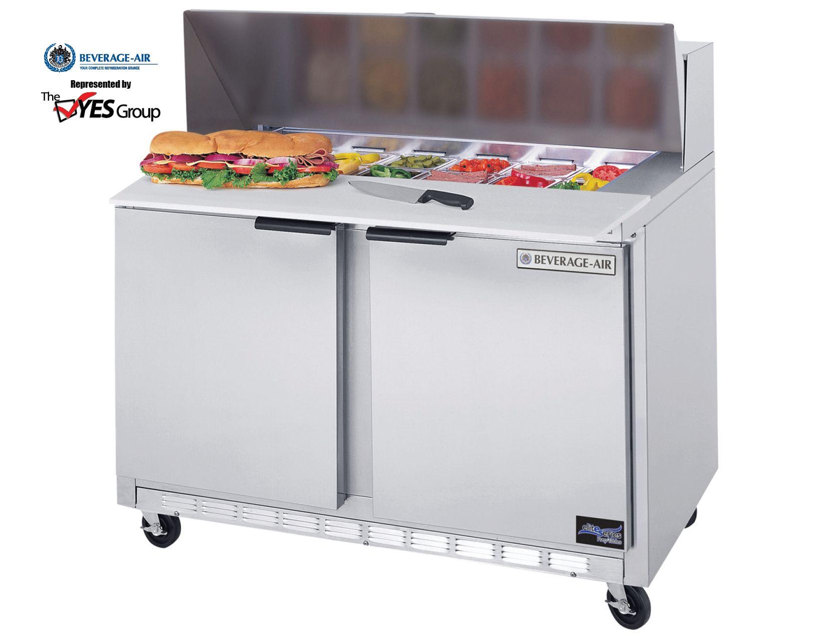 Sandwich Prep Table Elite Series By BeverageAir Coolers Pinterest - Sandwich prep table cooler