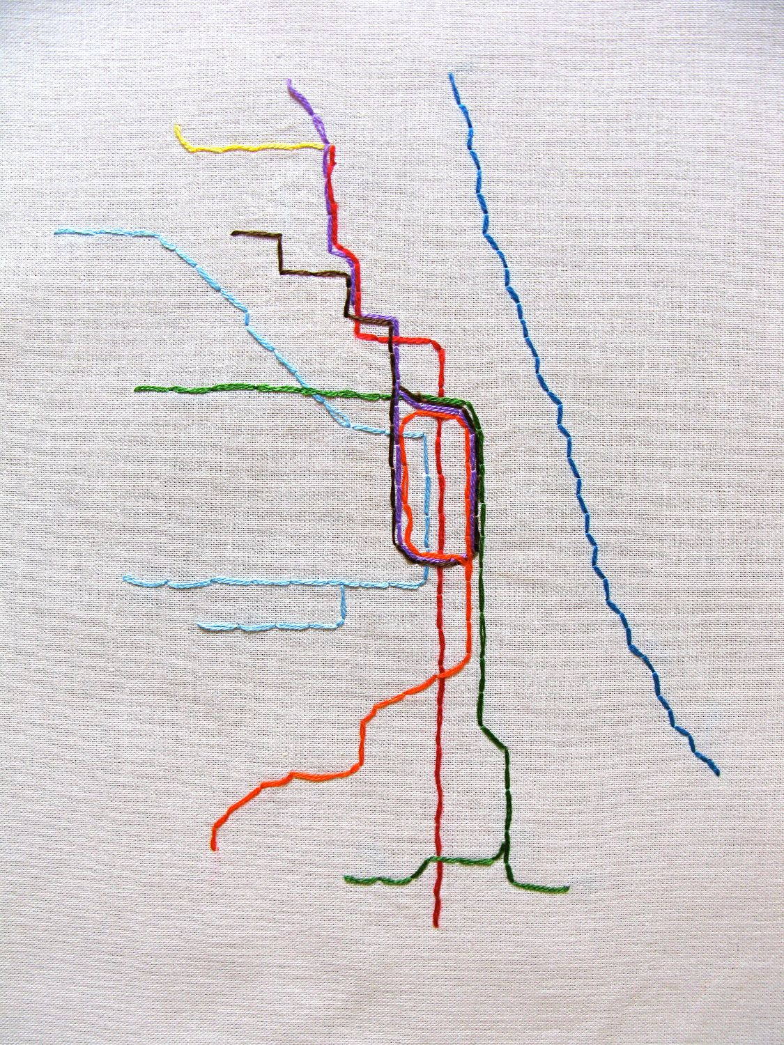 Chicago Metra Embroidered Map. $23.00, via Etsy. | bebé | Pinterest ...