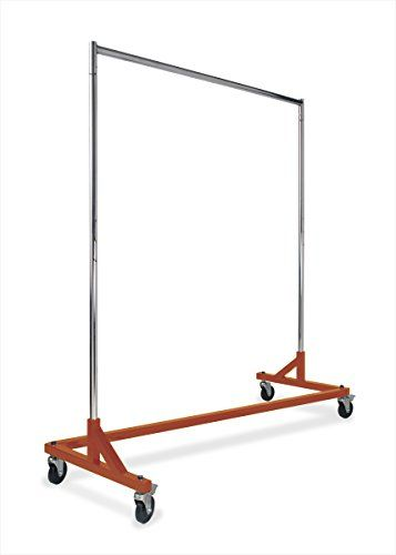 Econoco Commercial Rolling Z Rack With Kd Construction Durable