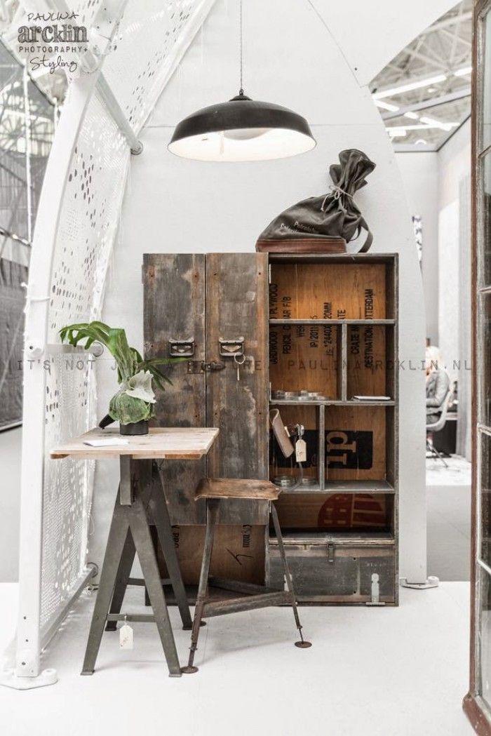 Industrieel interieur inspiratie industrieel for Vintage woonkamer