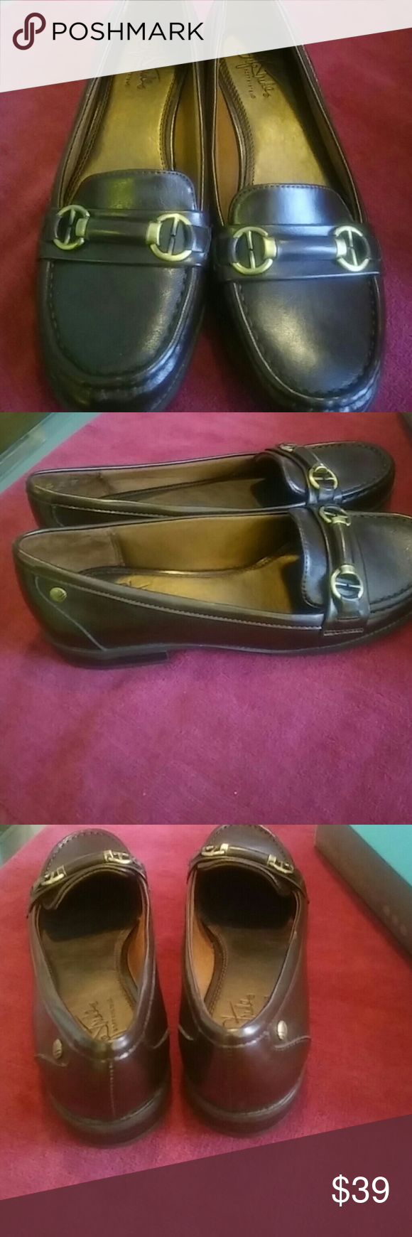 Kissed Dark brown loafers New never worn beautiful leather shoes made for comfort Life Stride Shoes Flats & Loafers