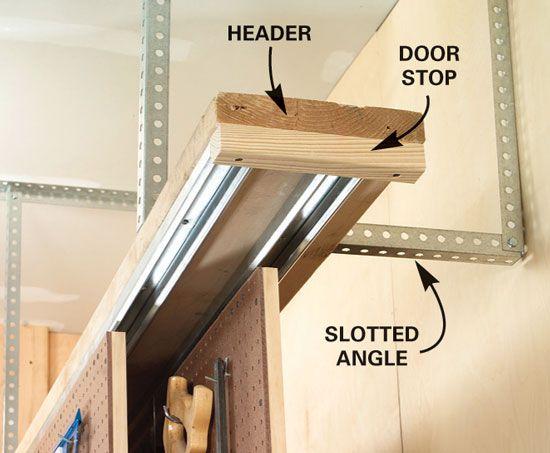 Sliding Wall O Tools I Built This 8 Ft Long Shelf System
