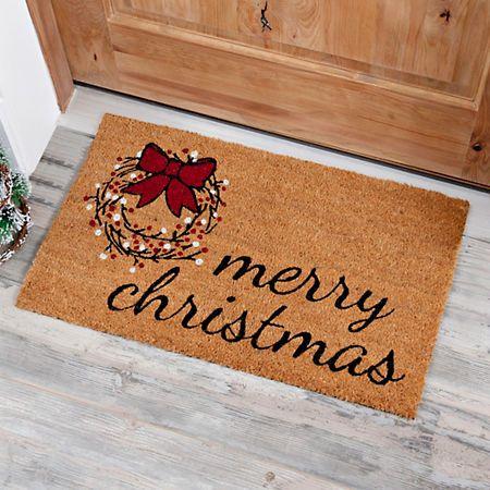 Merry Christmas Wreath Doormat Christmas Rugs Diy Christmas