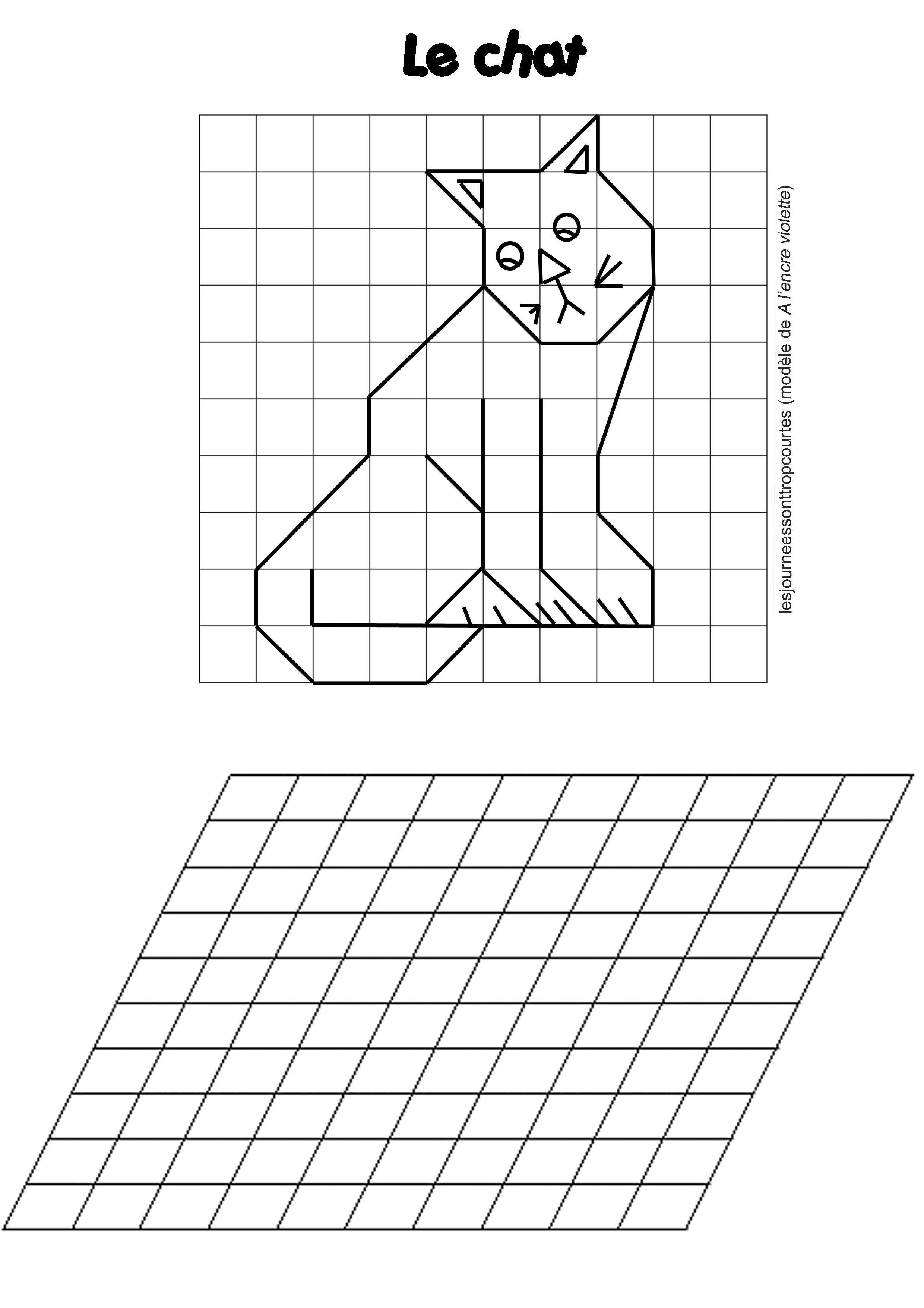 Reproduction De Figures Dessins Quadrillage Pinterest Math