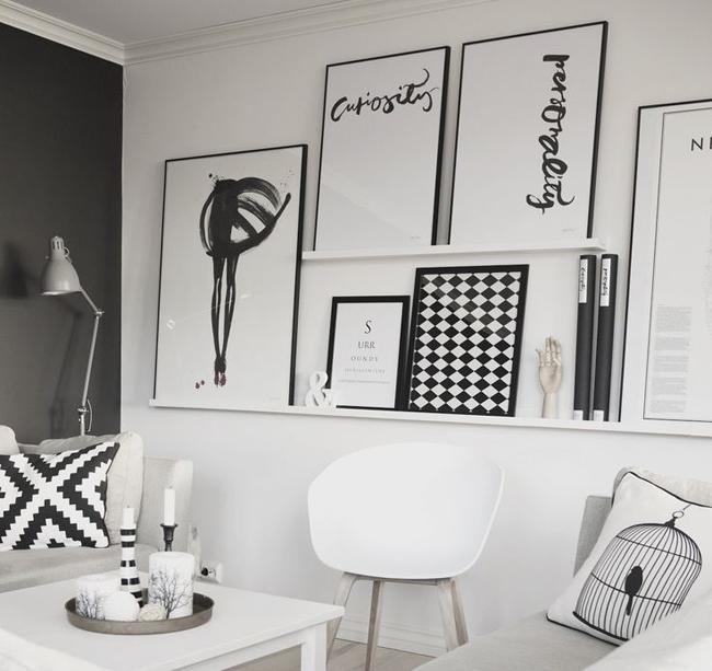 Paredes decoradas en blanco y negro hogar Pinterest Negro