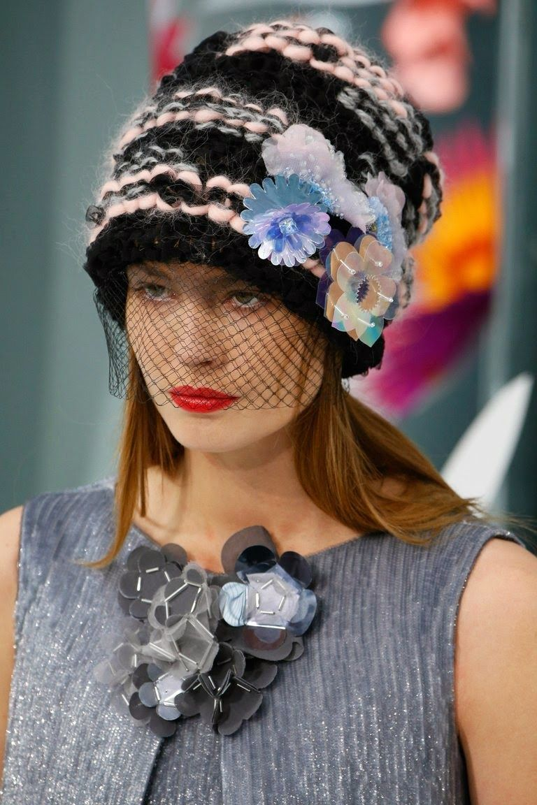 crochet knit unlimited  CHANEL COUTURE Spring-Summer 2015 Hats ... c0e7a2762603