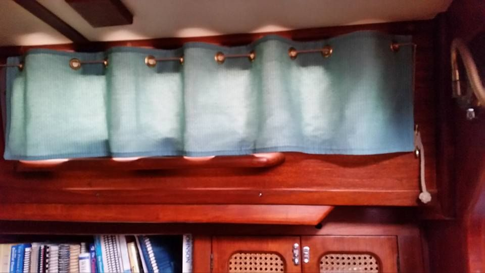 Cute Use Of A Cleat Boat Curtains Boat Decor Boat
