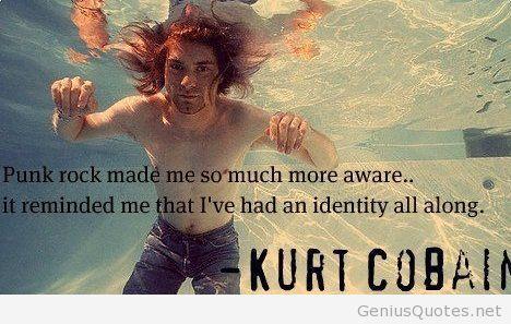 Kurt Cobain quote with image