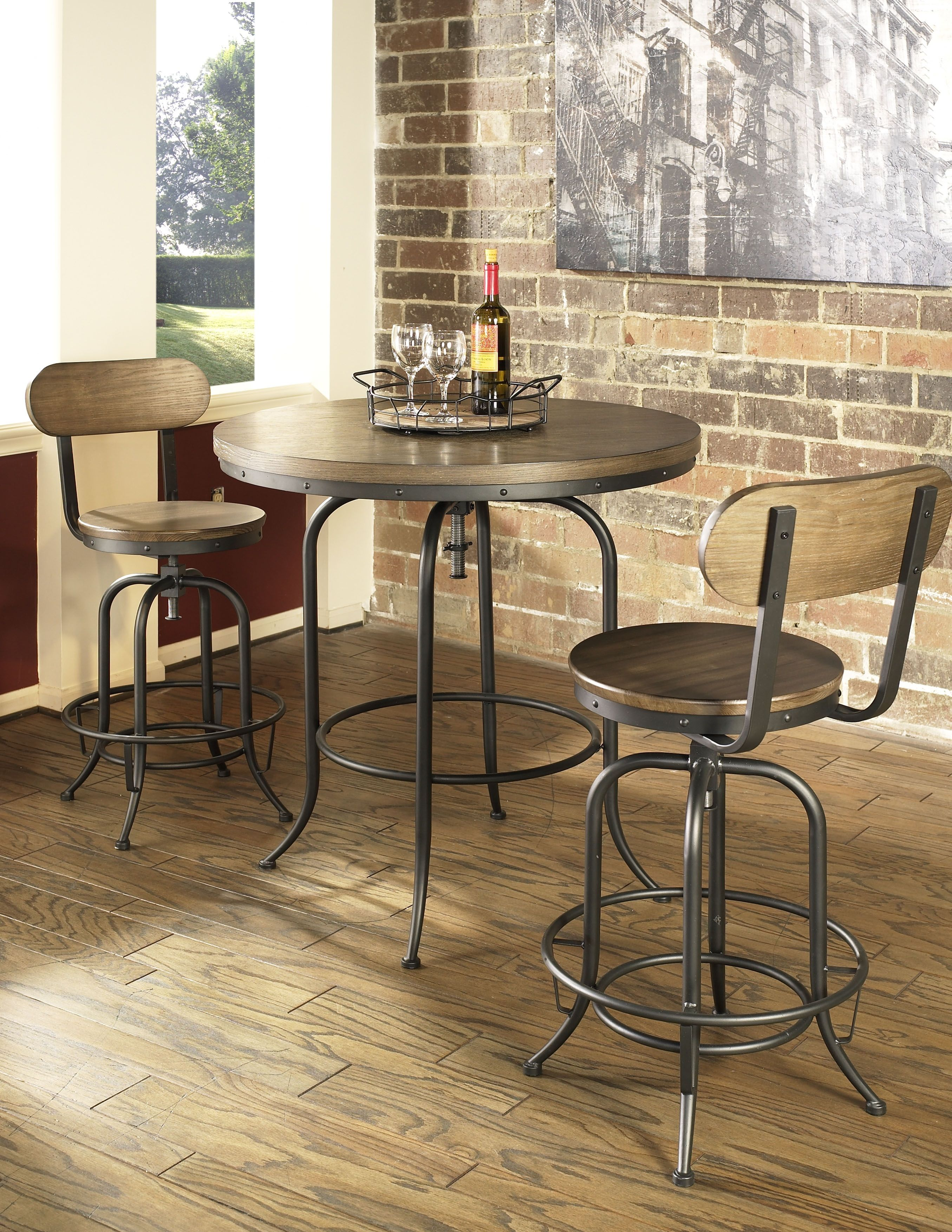 New Castle Round Bar Table Round Bar Table Bar Table Rustic Round Table