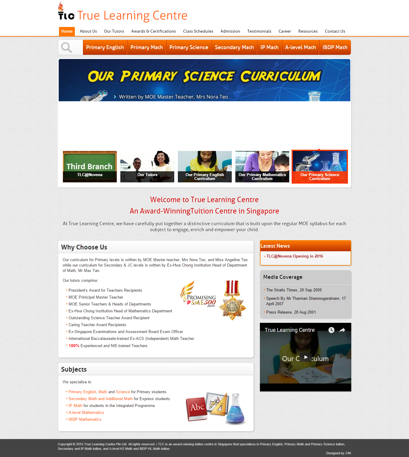 cool Website Design Samples for Tuition Agency in