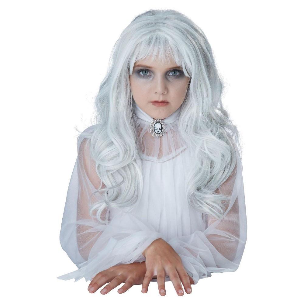 Girls' Ghost Costume Wig White, Silver #deguisementfantomeenfant