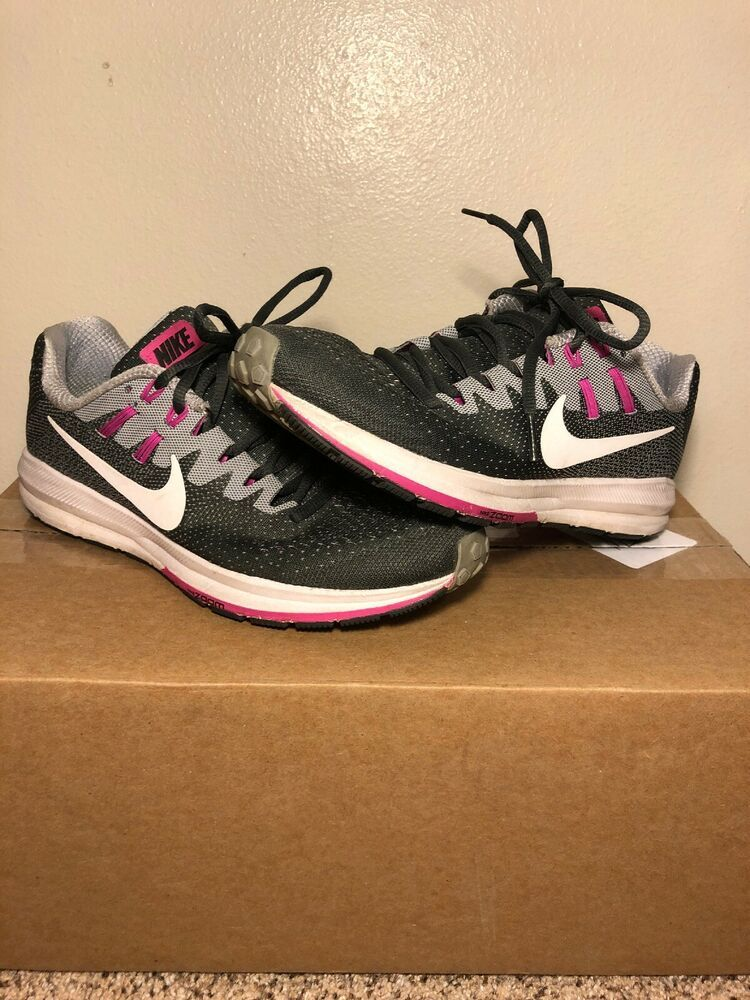 e0c961ba71623 Nike Air Zoom Structure 20 Grey Purple Womens Running Shoes SZ 6.5 - Nike  Airs (