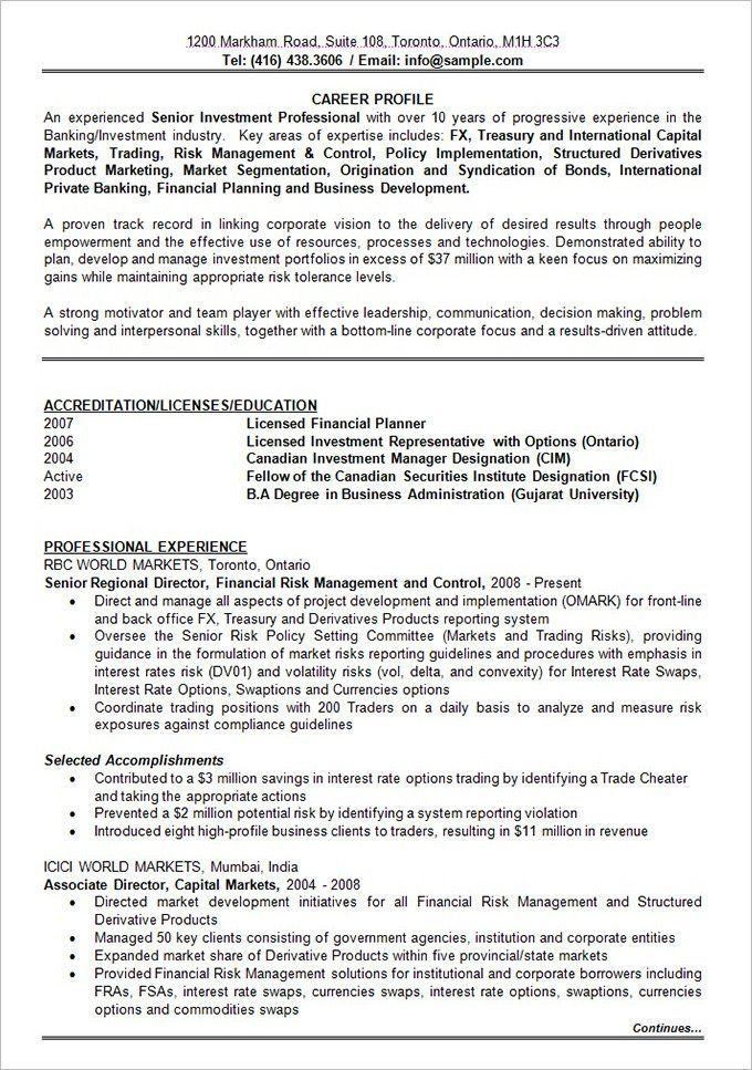 10 Years Experience Best resume format, Effective resume