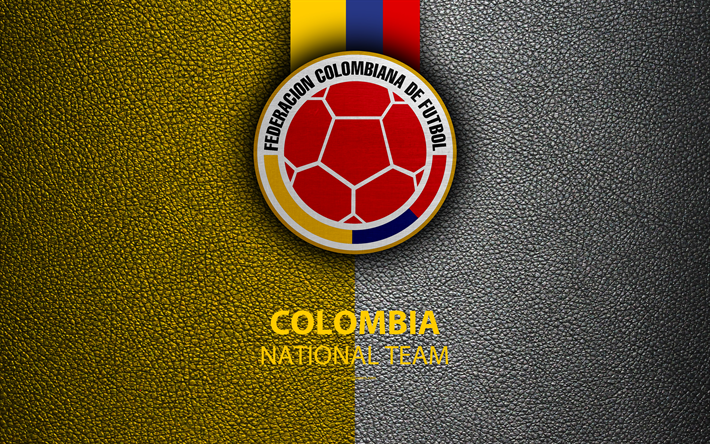 Download Wallpapers Colombia National Football Team 4k Leather Texture Colombian Football Federation Emblem Logo Football Colombia Besthqwallpapers Com Colombia Football Team Wallpaper Football Wallpaper