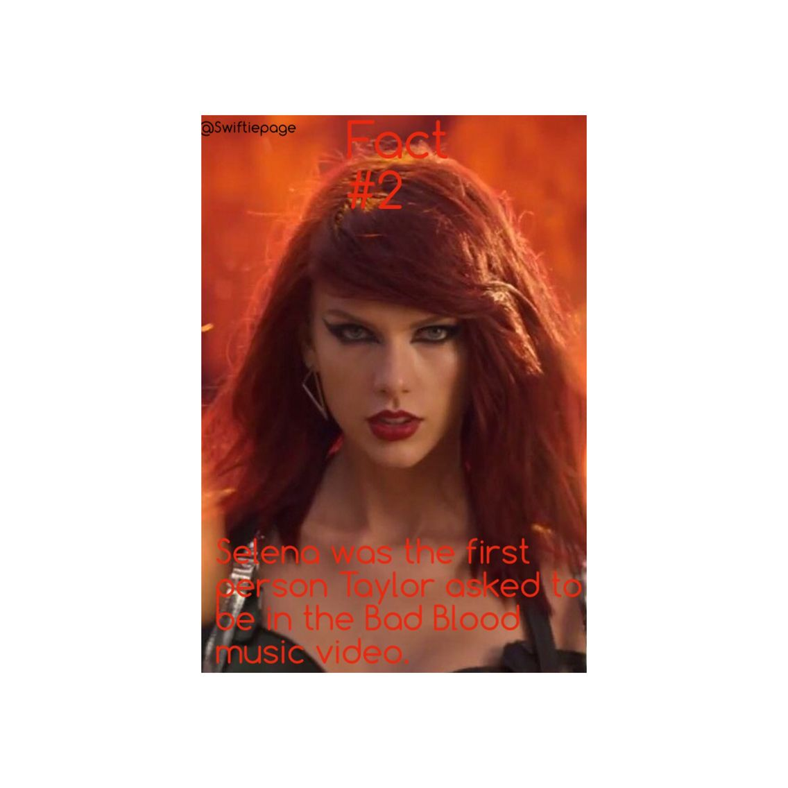 Fact 2 Taylor Swift Bad Blood Blood Red Hair Taylor Swift Songs