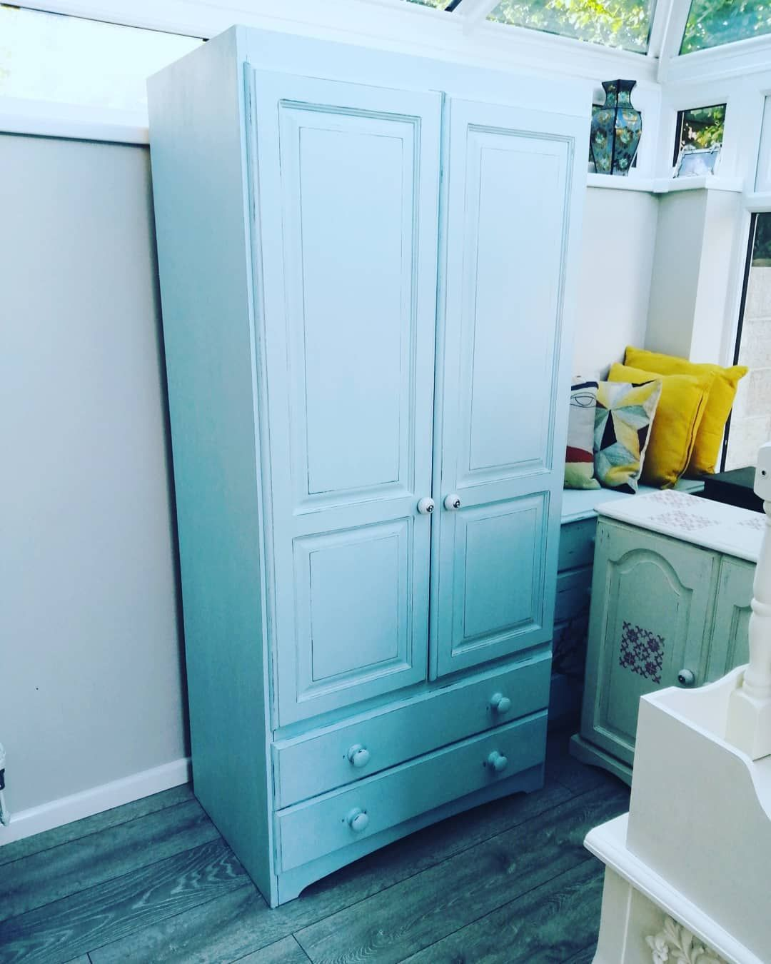 Painted An Old Pine Wardrobe I Picked Up From A Second Hand Shop It S To Go With 2 Othe With Images Cheap Living Room Furniture Modern Furniture Living Room Pine Wardrobe