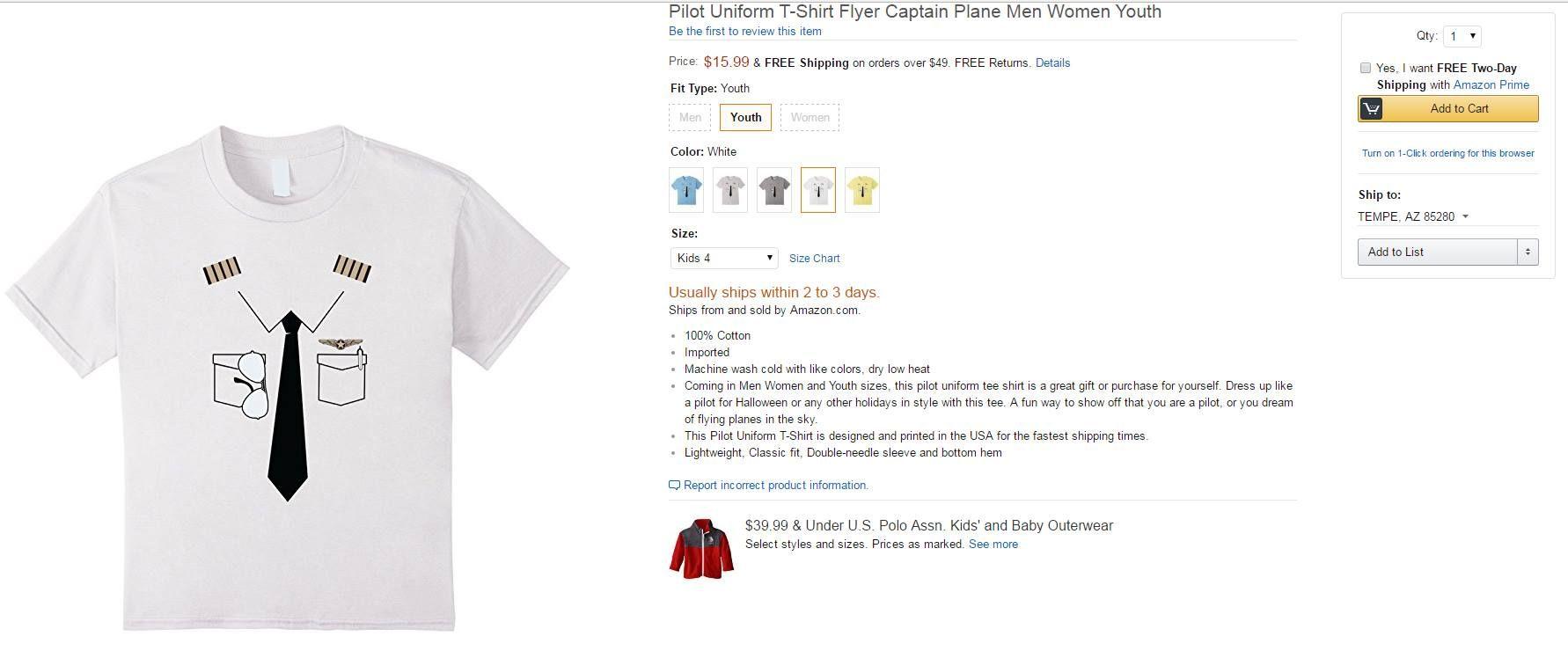 c3a63312 Hilarious knockoff of the Luso Aviation Pilot Uniform T-shirt - Nipple  Epaulets anyone?