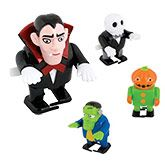 Immensely appealing 6cm clockwork Halloween figures that stomp determinedly forward whilst waving their outstretched arms. Great for party bags!